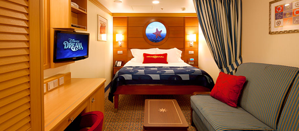 Disney dream disney cruise line les diff rentes for Cabine a cascata disney